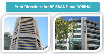 Print Directions for SEQ Dental Specialist Brisbane & Robina